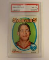 1971 Topps #8 Mike Robitaile RC PSA 8 Buffalo Sabres