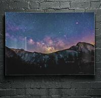 Wall Art Glass Print Canvas Picture ANY SIZE Night Sky Stars Galaxy p116191