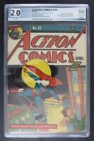 Action Comics #23 - PGX 2.0 GD - DC 1940 -Superman- 1st App of Lex Luthor!!!