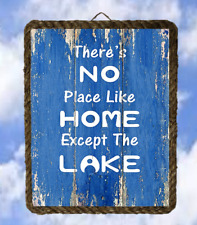Lake 8 No Place Like Home Except Lake Decor Art Prints Fishing lalarry ventage