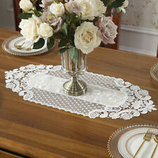 ELEGANT FLOWER LACE TABLE RUNNER TABLECLOTH TV CABINET COVER HOME KITCHEN DECOR