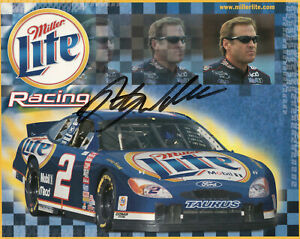 RUSTY WALLACE HAND SIGNED 8x10 COLOR PHOTO+COA        GREAT NASCAR DRIVER