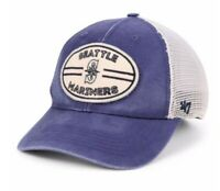 SEATTLE MARINERS HUDSON PATCH TRUCKER MEN'S '47 BRAND MLB SNAPBACK HAT CAP New