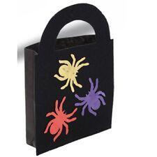 Sac à bonbons noir motifs araignées en couleur 20 x 29 cm [7839] halloween fetes