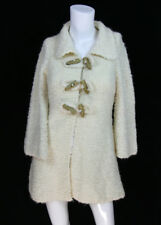Anthropologie Sleeping on Snow Sz S Ivory Wool Boucle Toggle Teddy Sweater Coat
