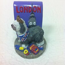 Rare Old English Sheep Dog Figurine Marked London Icing 2002 by Claire'S