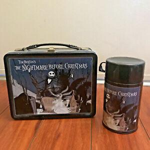 NECA The Nightmare Before Christmas JACK ZERO Metal Lunchbox & Thermos VTG RARE
