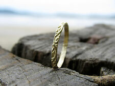 14k yellow gold wedding ring for woman.Wedding ring with unique gentle design.