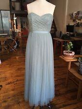 BHLDN Juliette Pale Jade Emerald Strapless Bridesmaid Dress Size 8