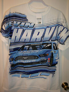2021 Kevin Harvick #4 Busch Light Checkered Flag Sports Total Print Tee XLARGE