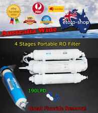 4 STAGES 190LPD Portable Reverse Osmosis Water Filters | RO Purified H2O Filter
