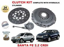 FOR HYUNDAI SANTA FE 2.2 CRDI 2010-->NEW CLUTCH KIT + HYDRAULIC SLAVE CYLINDER