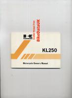 Kawasaki KL250 C2 (1984 >>) Genuine Owners Riders Manual Hand-Book KL 250 C CG02
