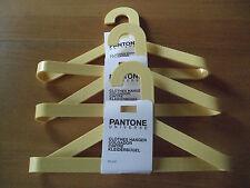 DANISH MODERN PANTONE UNIVERSE STUDIO HANGERS SET/3 SUNSHINE YELLOW PLASTIC NWT