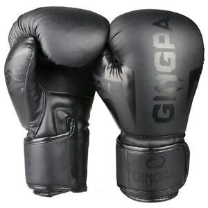 Kick Boxing Gloves for Adult Men Women PU Karate Muay Thai Guantes De Boxeo Free