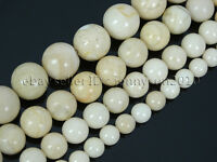 "Natural Fossil River Stone Gemstone Round Loose Beads 15.5"" 6mm 8mm 10mm 12mm"