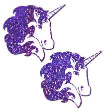 Cache-tétons nippies pasties adhésifs licornes violettes sexy original unicorn