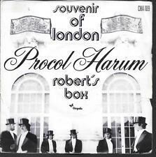 """45 TOURS / 7"""" SINGLE--PROCOL HARUM--ROBERT'S BOX / SOUVENIR OF LONDON--1973"""