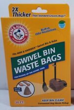 20 Count Clean Swivel Bin Disposable Dog Poop Bag Waste Strong Bags Arm & Hammer