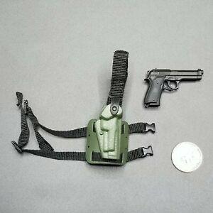 "1:6 Ultimate Soldier HK MK23 USSOCOM Pistol w// Silencer 12/"" GI Joe Dragon BBI"
