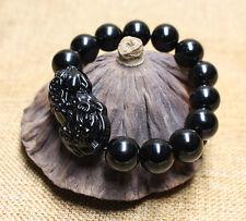 Feng Shui 12mm agate Stone Pi Yao /Pi Xiu Bracelet For Wealth Luck