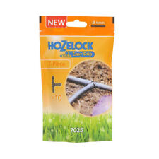Hozelock Easy Drip T-Piece 10 Pack 0.4mm 7025 - BRAND NEW