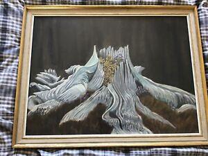 Vintage framed signed original oil painting Dr GA Metcalf 1897-1977