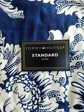 New Tommy Hilfiger Southampton Blue White Standard Pillow Sham