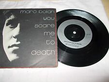 "MARC BOLAN - YOU SCARE ME TO DEATH - UK 7"" PIC/SLV VINYL - #CHERRY29 - T REX"
