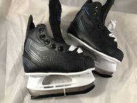 American Athletic Shoe Small Boy's Ice Force Hockey Skates, Black, 10 Y