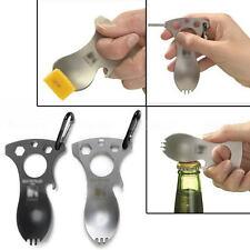 Multifunction Bottle Opener Spork Spoon Screwdriver Camping Survival Kit New
