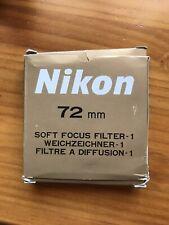 Nikon 72mm Soft Focus Filter #1 No.1 Glass Lens filter 72 mm Japan Genuine OEM