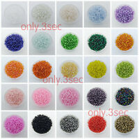 1000Pcs 2mm Czech Glass Seed Spacer Beads Jewelry Making Findings Pick Color 3Z0