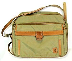 Vintage Hartmann Bag Nylon With Real Leather Trim & Shoulder Strap High Quality