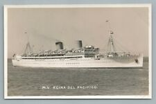 MV Reina Del Pacifico RPPC Steamer Ship Liner—Pacific Steam Navigation Co Photo