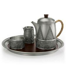 Royal Selangor Hand Finished Gembira Collection Pewter Tea Set Gift