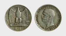s535_186) Vittorio Emanuele III (1900-1943) 5 Lire Aquilino 1927