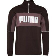 Puma Herren Retro Sweatshirt Zipjacke Troyer Braun NEU