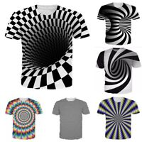 New Fashion Whirl Hypnosis Funny 3D Print Mens Womens Casual T-Shirt Tee Tops