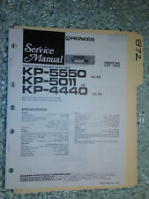 Pioneer kp-5550 5011 4440 service manual original repair book stereo car radio