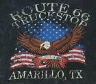 Project Social T Women's M Route 66 Truck Stop Amarillo TX Patriotic Top