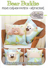 BEAR BUDDIE - Applique Sewing Craft PATTERN - Cushion Shabby Chic