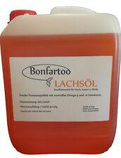 Lachsöl 100%, Bonfartoo, Barföl, Omega- 3 Fettsäuren, Hund, Barfen 5L (1L/3,89€)