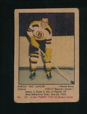 "1951/52 PARKHURST HAROLD ""HAL"" LAYCOE  GOOD  #25 CENTERED ROOKIE; MULTI CREASES"