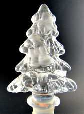 CLEAR GLASS BOTTLE STOPPER CHRISTMAS TREE (C2)