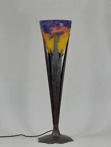 ROBJ & MULLER FRERES : RARE FRENCH 1925 ART DECO LAMP .............  France 1930