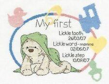 Cross Stitch Kit - DMC - Lickle Ted - Precious Lickle Moments Birth Sampler