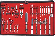 27 PCS NEW FULL RANGE GERMAN STAINLESS STEEL MANICURE AND PEDICURE TOOL KIT/SET