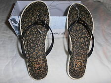 SPERRY TOP- SIDERS THONG/SANDALS BLACK SIZE 6.0 100% AUTHENTIC!!