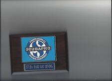 SCUBA HARD HAT DIVING PLAQUE SCUBAPRO PROFESSIONAL EQUIPMENT PHOTO PLAQUE